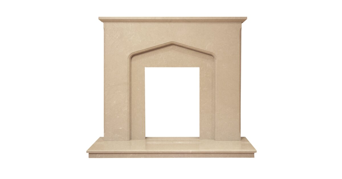 The Camelot Fireplace in Roman Stone, 46 Inch | Fireplace World