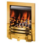 The Gem Gas Fire in Brass, by Crystal