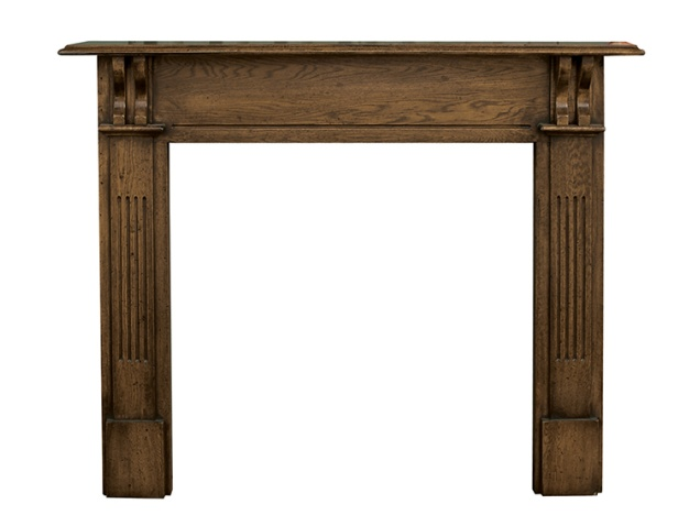 The Earlswood Mantelpiece in Distressed Oak by Carron, 55 Inch