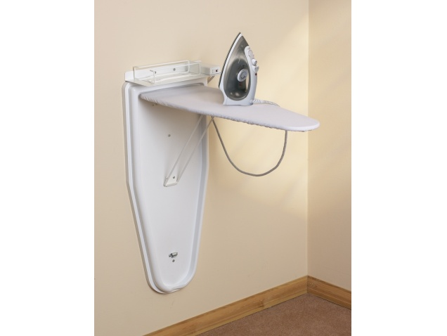 Cambridge compact ironing centre white steam iron for Table retractable murale