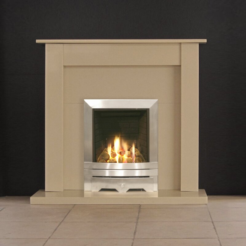 Milano Marble Fireplace With Focalpoint Contemporary Vogue
