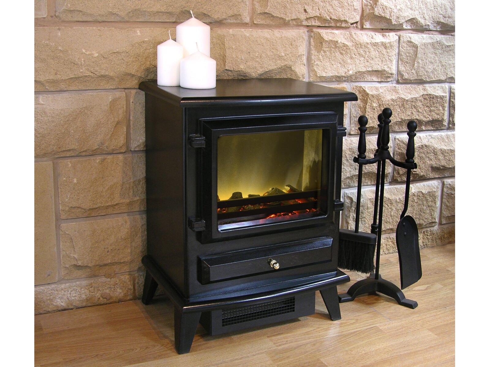 Adam Hudson Electric Stove In Black Fireplace World