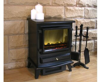 Adam Hudson Electric Stove In Black Fireplace World