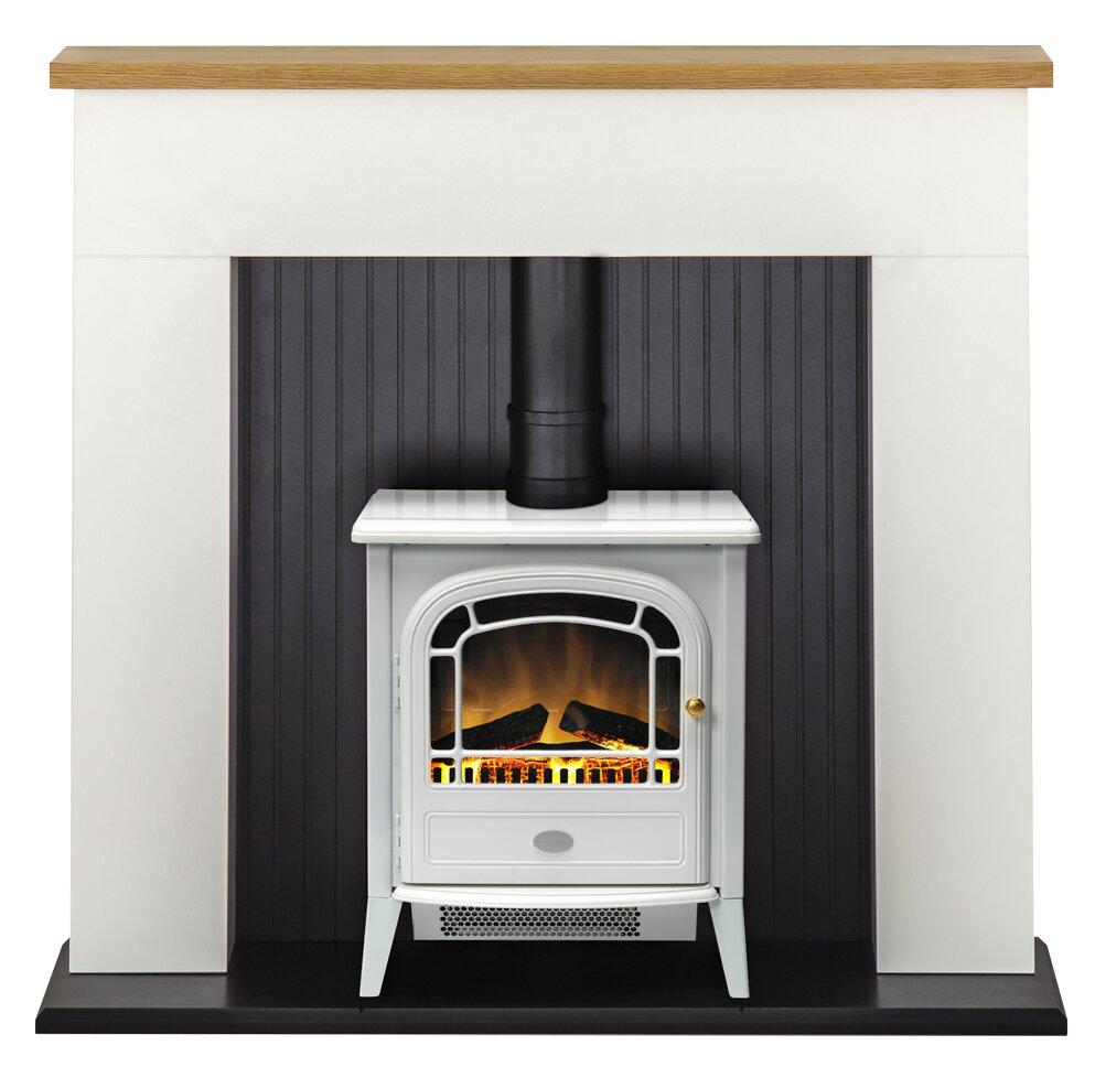 White Electric Stove ~ Adam innsbruck stove suite in pure white with courchevel