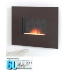 Nexus in Chocolate Wall Mounted Electric Fire