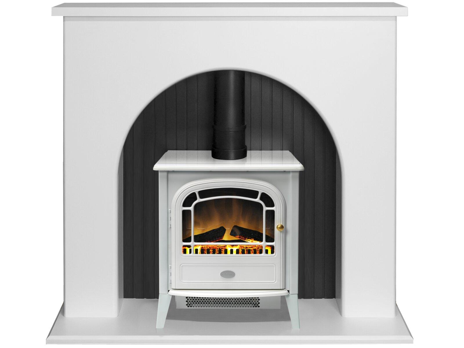 White Electric Stove ~ Adam kirkham stove suite in pure white with courchevel