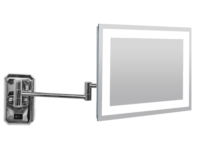 illuminated wall mounted square cosmetic shaving mirror corby of windsor. Black Bedroom Furniture Sets. Home Design Ideas