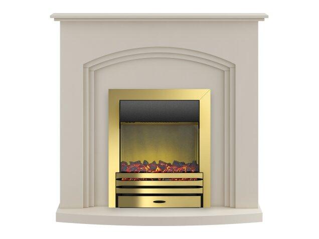 Adam Truro Fireplace Suite In Cream With Eclipse Electric
