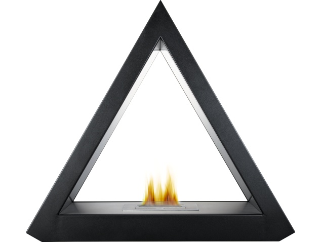 The Geo Bio Ethanol Fireplace Suite in Black, 39 Inch