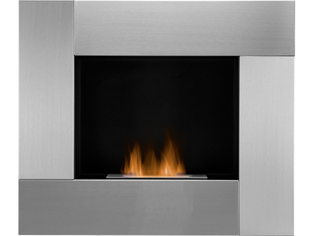 The Galaxy Wall Mounted Bio Ethanol Fire In Stainless Steel 31 Inch