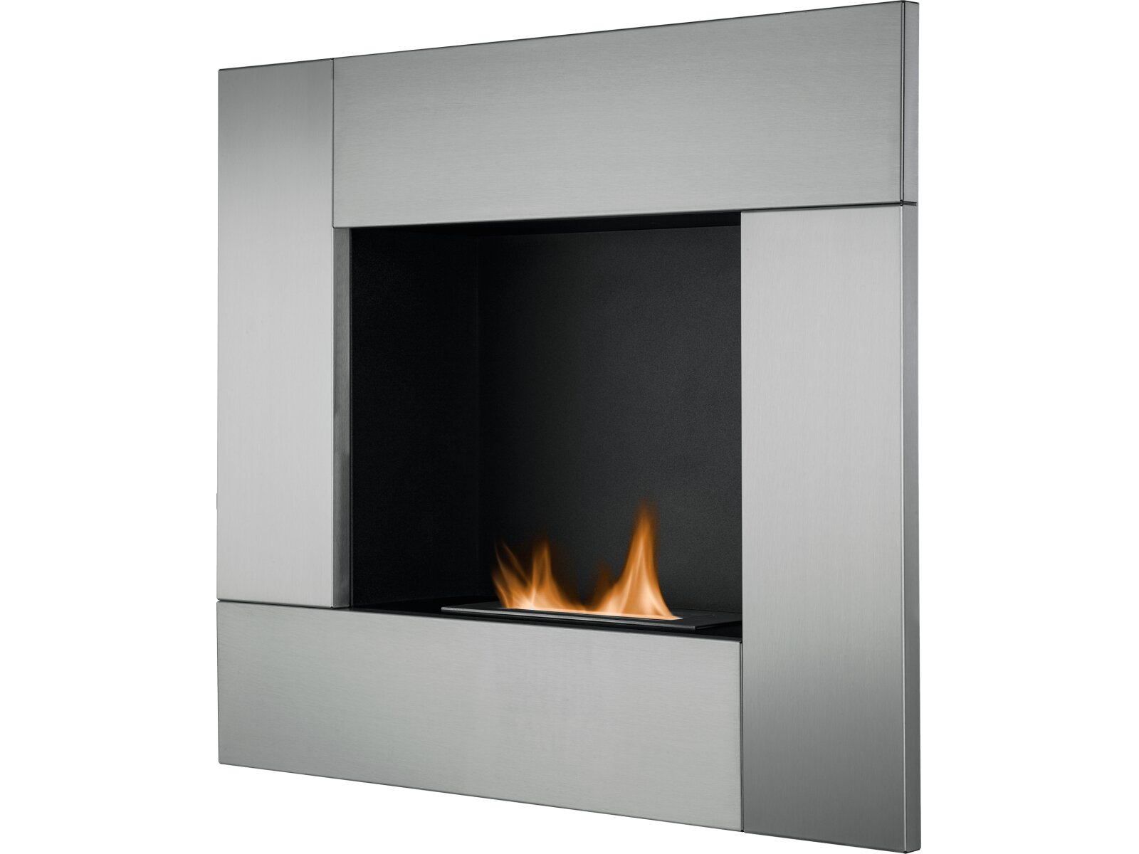 The Galaxy Wall Mounted Bio Ethanol Fire in Stainless