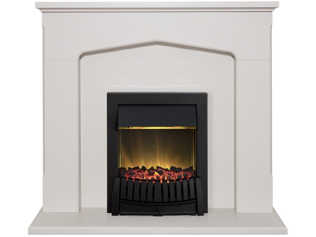 Adam Cotswold Fireplace Suite In Stone Effect With Elan