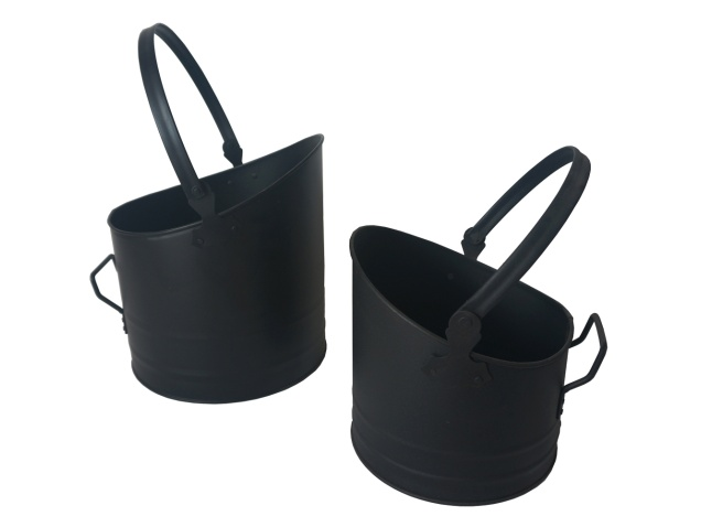 set-of-two-classic-coal-buckets-in-black-small-(4.8l)-and-large-(9.6l)