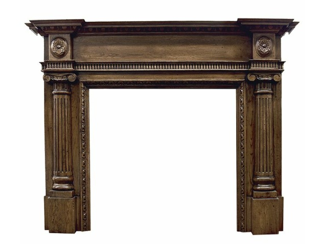 The Ashleigh Mantelpiece in Distressed Oak by Carron, 65 Inch