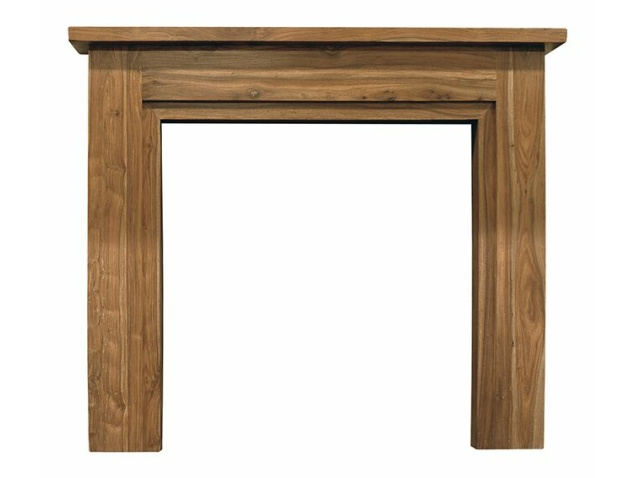 The Colorado Mantelpiece in Natural Solid Sheesham by Carron, 56 Inch