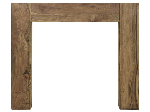 The Manhattan Mantelpiece in Natural Distressed Solid Acacia by Carron, 51 Inch