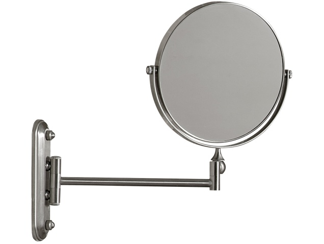 wall mounted brushed steel cosmetic shaving mirror corby of windsor. Black Bedroom Furniture Sets. Home Design Ideas