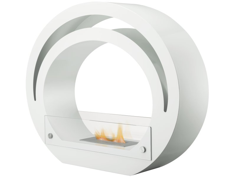The Globe Bio Ethanol Fireplace Suite in Pure White
