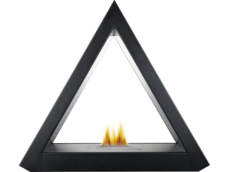 The Geo Bio Ethanol Fireplace Suite in Black