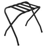 ashton metal luggage rack no back black - Luggage Racks For Bedrooms