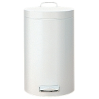 3L White Pedal Bins (Case Qty 6)