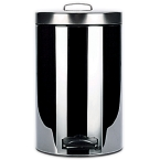 7L Chrome Pedal Bins (Case Qty 6)