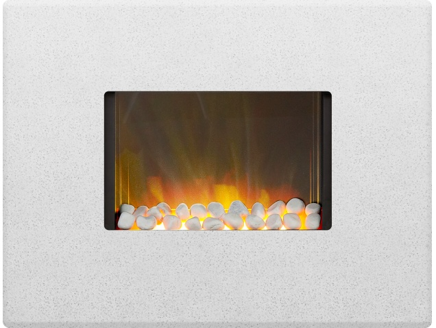 Adam Nexus Wall Mounted Electric Fire In Sparkly White