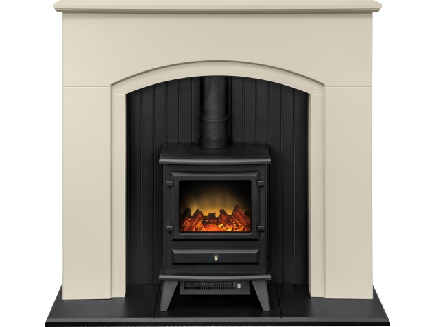 Adam Madison Stove Suite in Stone Effect with Hudson ... Electric Stove Top Granite