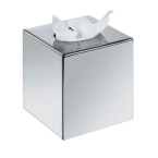 Corby Chrome Cube Tissue Box Cover (Case Qty 6)