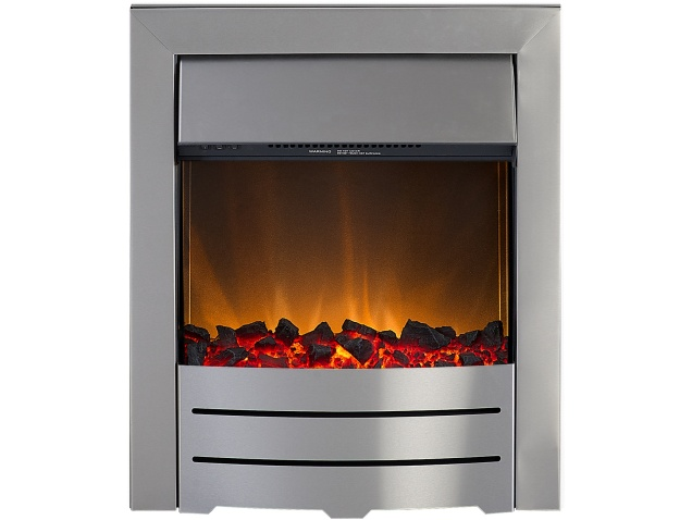 Adam Colorado Electric Fire In Brushed Steel Fireplace World