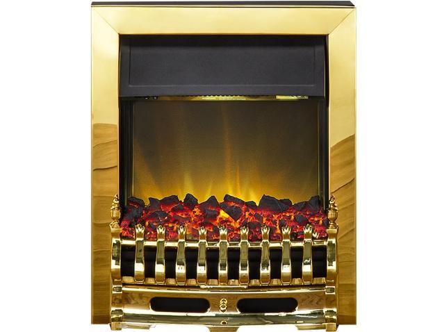 Adam Blenheim Electric Fire In Brass Fireplace World