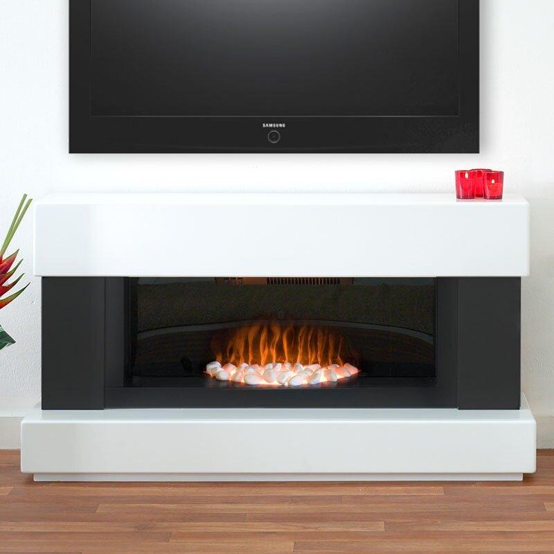 Adam Verona Fireplace Suite in Pure White, 48 Inch ...