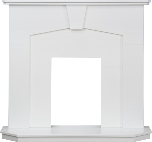 Image of Adam Abbey Fireplace in Pure White, 48 Inch