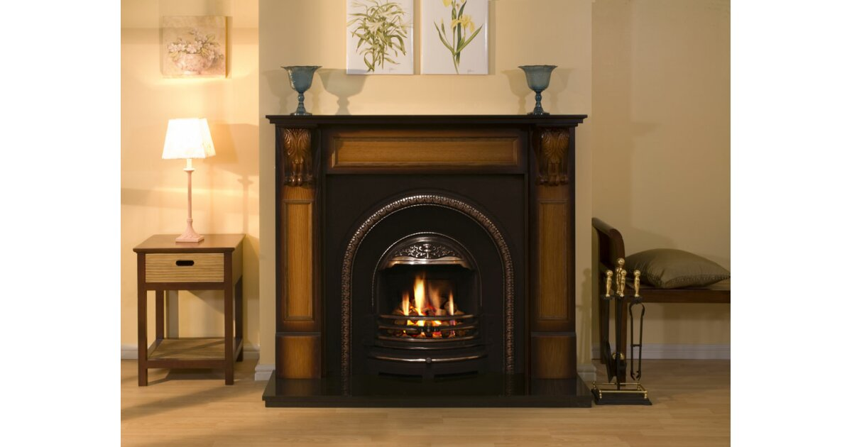 Cheltenham Lombardi Cast Iron Fireplace + Nu Flame Gas Fire tray ... : nu flame fireplace : Fireplace Design