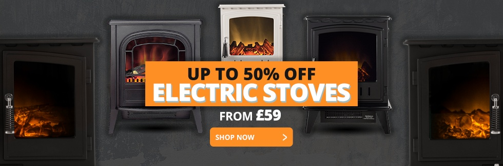 UP TO 50% OFF ELECTRIC STOVES