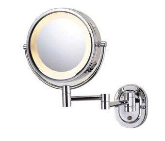 Miroir grossissant lumineux mural chrom corby hospitality - Miroir grossissant lumineux ...