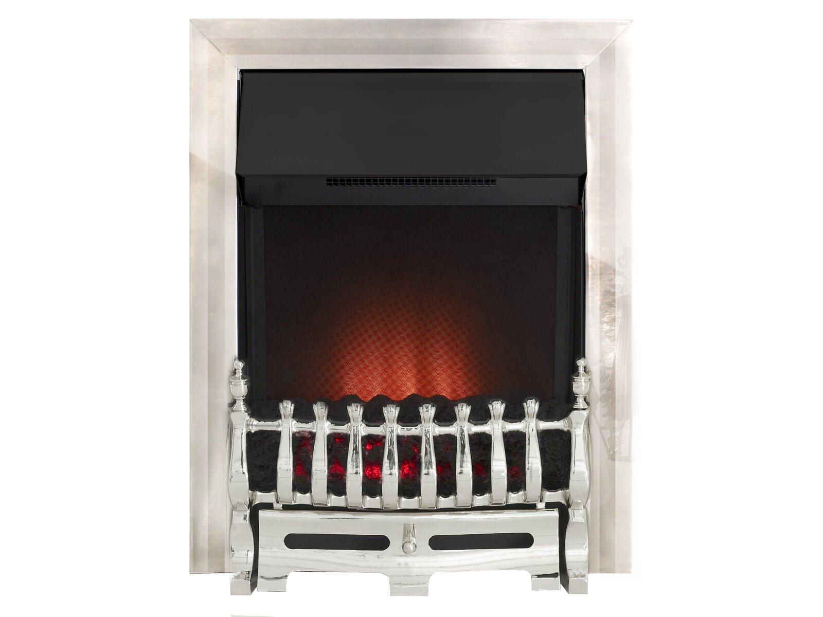 Adam Blenheim Ribbon Electric Fire In Chrome Fireplace World