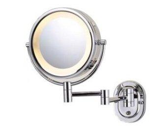 Espejo de aumento cromado para pared con luz corby for Espejo 20 aumentos
