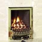 Excelsior Radiant Gas Fire in Brass