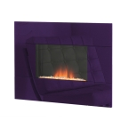 Nexus in Purple Wall Mounted Electric Fire