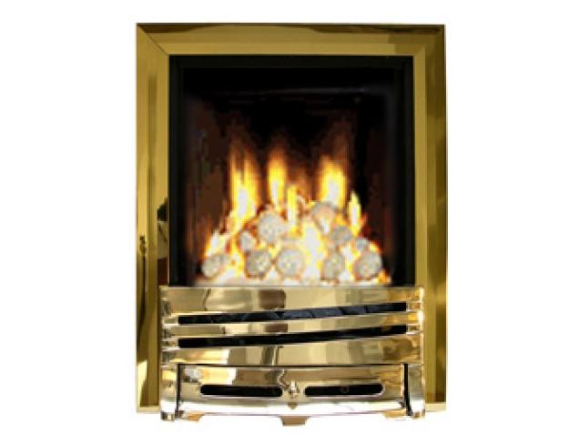 Ekofires EKO 3060 Pebble Gas Fire Brass Brass Mono