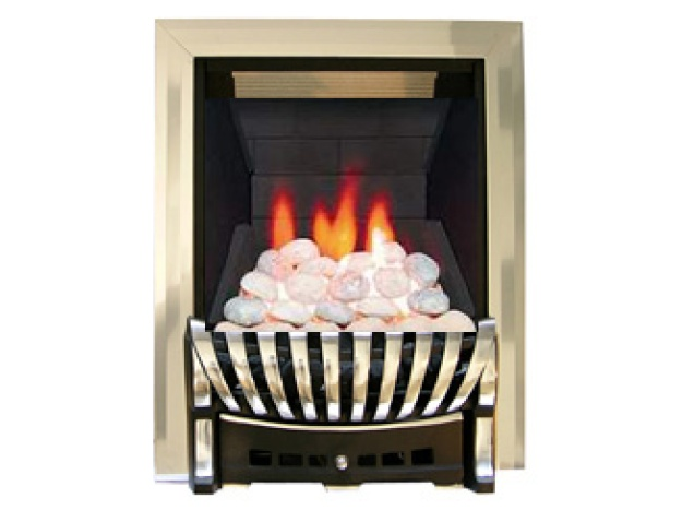 Ekofires Eko 3010 Pebble Remote Gas Fire Silver Chrome Elegance Fireplace World