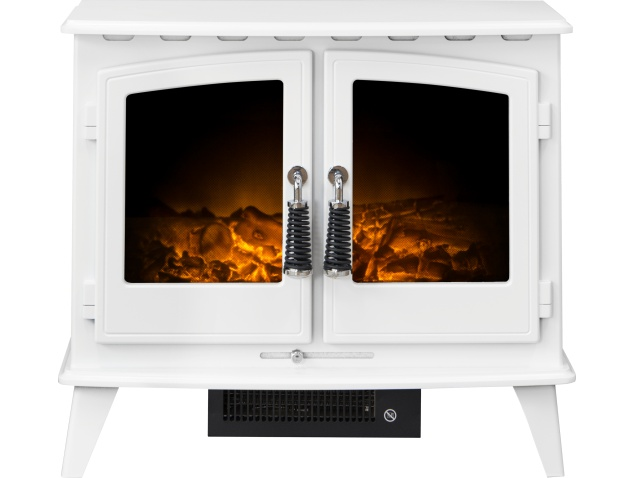 adam woodhouse electric stove in pure white fireplace world rh fireplaceworld co uk