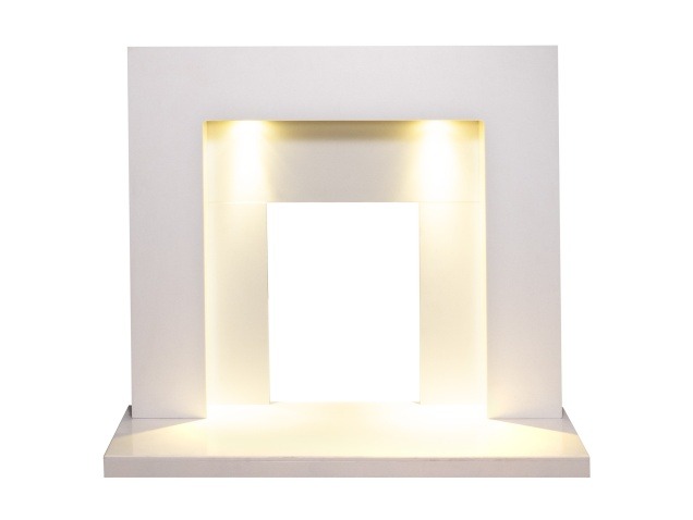 cuba-white-marble-fireplace-with-downlights-48-inch