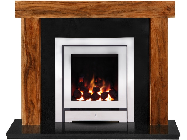 Astonishing The Fenchurch In Acacia Granite With Crystal Montana He Gas Fire In Chrome 54 Inch Interior Design Ideas Clesiryabchikinfo