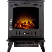 adam-aviemore-electric-stove-in-black-enamel-with-straight-stove-pipe