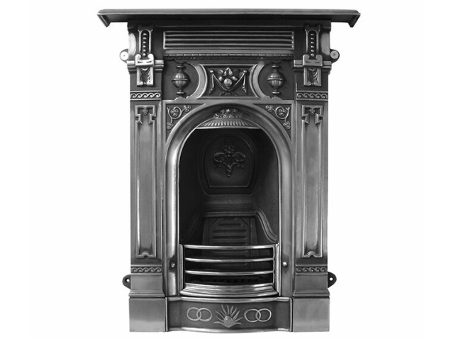 Smalle Kast Wit.The Victorian Small Cast Iron Combination Fireplace In Full Polish