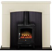 adam-derwent-stove-suite-in-cream-with-aviemore-electric-stove-in-black-enamel-48-inch