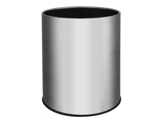thornton-9l-waste-paper-bin-brushed-steel-(case-qty-6)
