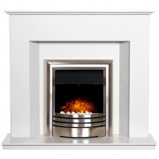 alora-crystal-white-marble-fireplace-with-downlights-astralis-6-in-1-chrome-electric-fire-48-inch